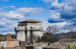 Public castle of granadilla in caceres royalty free stock images