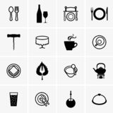 Public catering icons royalty free illustration