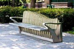 Public chair Stock Image