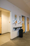 Public changing room with hairdryers and mirrors Stock Images