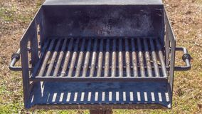 Public charcoal grill in a park royalty free stock images