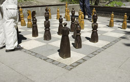 Public chess royalty free stock photo
