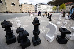 Public chess competition Stock Photography