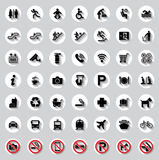Public circle signs vector set Stock Image