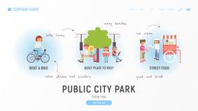 Public city park stock illustration