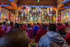 Public clas del tantra de Tíbet Fotos de archivo libres de regalías