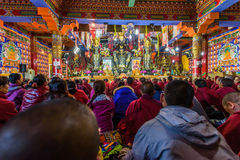 Public class of tibet tantra Royalty Free Stock Photos