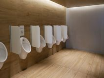 Free Public Clean Modern Men Toilet Restroom Urinals Royalty Free Stock Images - 115697919