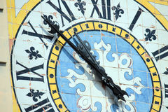 Public clock, Anacapri, Italy Stock Photos