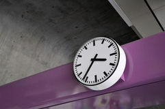 Public clock- BTS station in Bangkok Stock Image