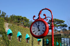 Public clock in the street, Tokyo, Japan Stock Photo