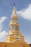 Public Clock Tower. In Cartagena de Indias Royalty Free Stock Image