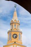 Public Clock Tower. In Cartagena de Indias Stock Images
