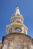 Public Clock Tower. In Cartagena de Indias Royalty Free Stock Photography