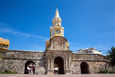 Public Clock Tower in Cartagena. De Indias, Colombia Royalty Free Stock Photography