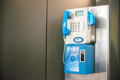 Public coin-operated telephone booths Stock Photography