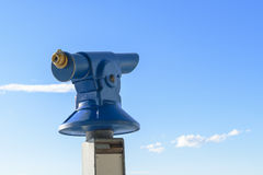 Public coin operated tourist telescope - monocular Stock Photos