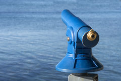 Public coin operated tourist telescope - monocular Royalty Free Stock Photos