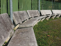 Public concrete bench. Concrete benches in a urban public park royalty free stock photos