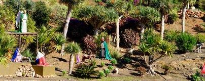 Public creche. Creche in the public between trees at Gran Canaria stock photos