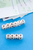 Public Debt - Crossword Puzzle Stock Photos