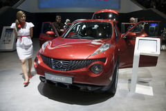 Public debut of the Nissan Juke Stock Photography