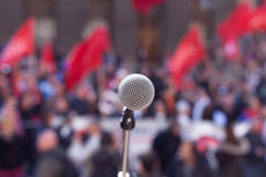 Public demonstration. Protest. Royalty Free Stock Images