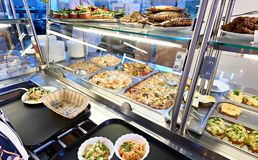 Public dining counter stock image