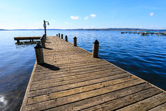 Public dock in a clear sky Stock Photography