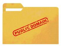 Public domain auf beflecktem Ordner Lizenzfreie Stockfotos