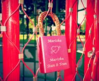 PUBLIC DOMAIN DEDICATION - Pixabay - digionbew 12. 11-07-16 Love padlock on love gate  LOW RES DSC05441 Royalty Free Stock Image