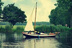 PUBLIC DOMAIN DEDICATION - Pixabay - Pexels - digionbew 13. 27&28 -07-16 Sail boat on the river LOW RES DSC07053 Royalty Free Stock Image