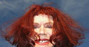 PUBLIC DOMAIN DEDICATION Pixabay-Pexels digionbew 14. 04-08-16 Wild red hair LOW RES DSC07864 Royalty Free Stock Photo