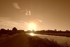 PUBLIC DOMAIN DEDICATION - Pixabay- Pexels digionbew 16. 18-08-16 Pink sunset over Middelpolder LOW RES DSC09720 Royalty Free Stock Images