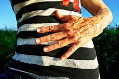 PUBLIC DOMAIN DEDICATION - Pixabay- Pexels digionbew 16. 24-08-16 Hand on abdomen LOW RES DSC00545 Stock Image