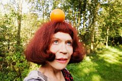 PUBLIC DOMAIN DEDICATION - Pixabay - Pexels digionbew 18. 01-09-16 Orange girl LOW RES DSC01508 Royalty Free Stock Images