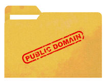 Public domain on stained folder Royalty Free Stock Photos
