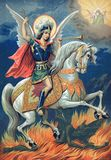 Icon of the great Martyr St. George the victorious. Stock Image