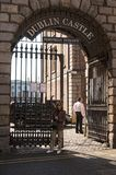 The Public Dublin Castle, Dublin, Ireland. Pedestrians entrance Stock Images