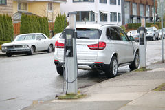 Public Electric Car Charging Station Royalty Free Stock Images