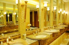 Public empty restroom Royalty Free Stock Images