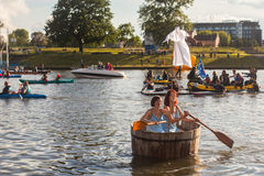 Public event called 4th Water Critical Mass in Krakow Stock Photography