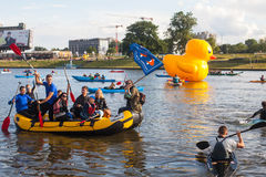 Public event called 4th Water Critical Mass in Krakow Stock Images