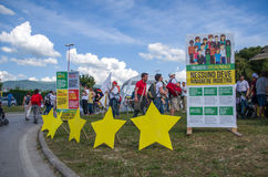 Public event of the Movimento 5 Stelle (m5s) italian  political party Royalty Free Stock Image