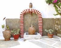 Public faucet in a Mediterranean island Stock Photos