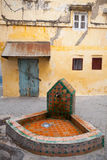 Public faucet in old Medina. Tangier, Morocco Royalty Free Stock Photo