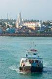 Public ferry in Kanyakumari,  India Royalty Free Stock Images