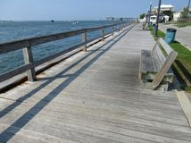 Public Fishing Pier in Ocean City Maryland royalty free stock photography