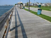 Public Fishing Pier in Ocean City Maryland stock photo