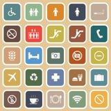 Public flat icons on orange background Royalty Free Stock Photography